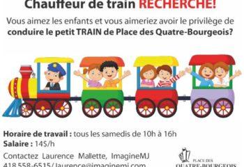 Nous recherchons un chauffeur de petit train!