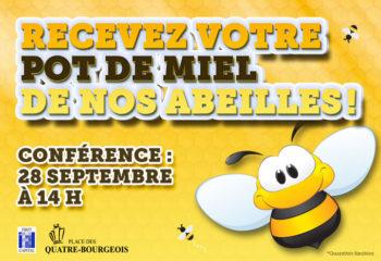 Recevez votre pot de miel de nos abeilles!